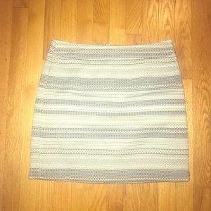Blue and grey tweed skirt